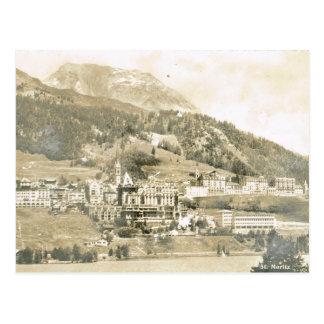 Cartão Postal Vintage, Suiça, St Moritz, 1906