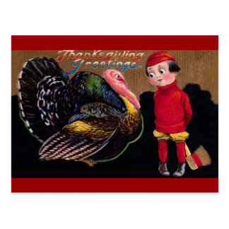 Cartão Postal Vintage Thankgiving