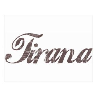 Cartão Postal Vintage Tirana