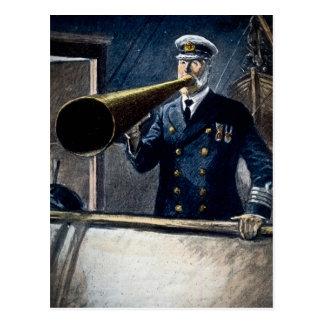 Cartão Postal Vintage titânico do capitão Edward Smith RMS