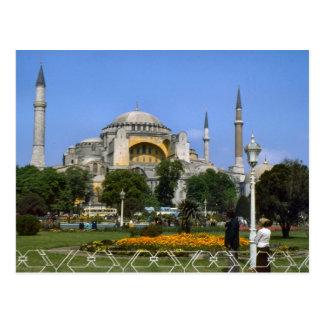Cartão Postal Vintage Turquia - Istambul Hagia Sophia