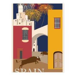 Cartão Postal Vintage-Viagem-Poster-Espanha