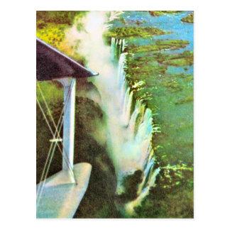 Cartão Postal Vintage Zambezi River da réplica, Cataratas