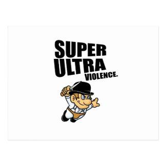 Cartão Postal violência super dos desenhos animados ultra