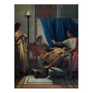 Cartão Postal Virgil que lê o Aeneid
