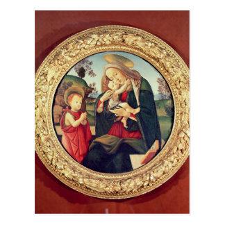 Cartão Postal Virgin e criança com John The Baptist