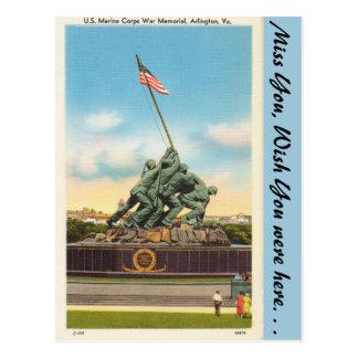 Cartão Postal Virgínia, memorial de guerra, Arlington