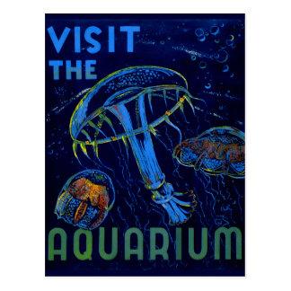 Cartão Postal Visita de WPA do vintage o poster do aquário