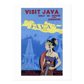 Cartão Postal Visita Java