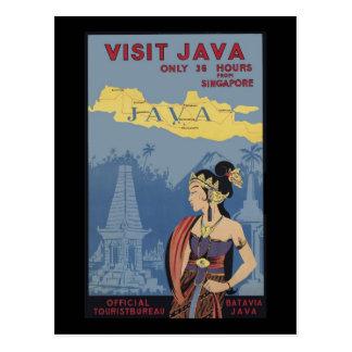Cartão Postal Visita Java somente 36 horas de Singapore