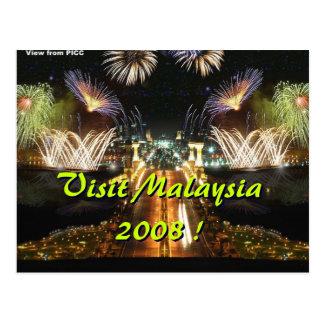 Cartão Postal Visita Malaysia 2008!
