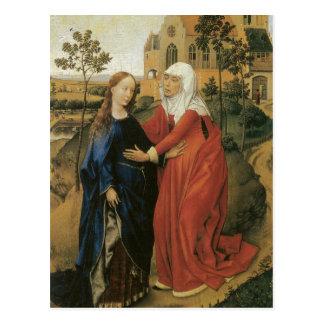 Cartão Postal Visitação de Mary - Rogier van der Weyden