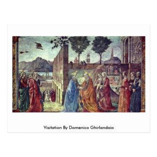 Cartão Postal Visitação por Domenico Ghirlandaio
