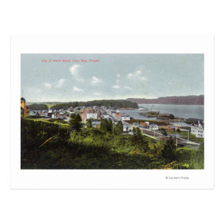 Cartão Postal Vista aérea da cidade e da baía dos Coos