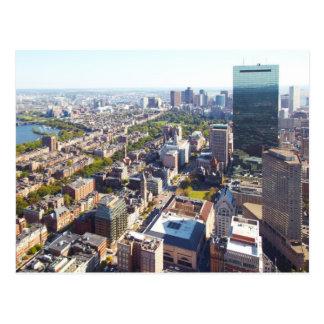 Cartão Postal Vista aérea de Boston