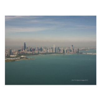 Cartão Postal vista aérea de Chicago do Lago Michigan