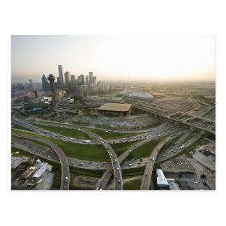 Cartão Postal Vista aérea de Dallas do centro, Texas
