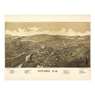 Cartão Postal Vista aérea de Oxford, New York (1888)