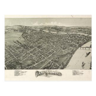 Cartão Postal Vista aérea de Parkersburg, West Virginia (1899)