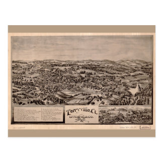 Cartão Postal Vista aérea de Terryville, Connecticut (1894)