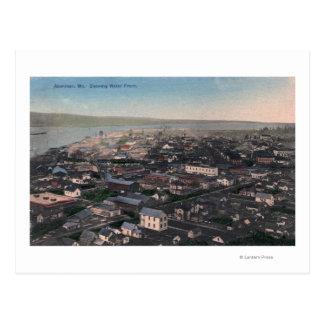 Cartão Postal Vista aérea do beira-rio e da cidade