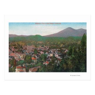 Cartão Postal Vista aérea do CitySan Rafael, CA