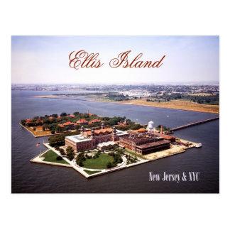 Cartão Postal Vista aérea do Ellis Island, do NJ & do NY