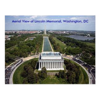 Cartão Postal Vista aérea do memorial de Lincoln, Washington, D