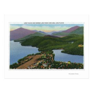 Cartão Postal Vista aérea dos lagos calmos e do espelho
