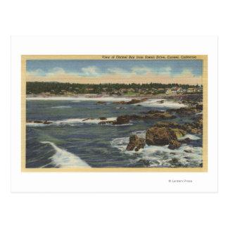 Cartão Postal Vista da baía de Carmel da movimentação cénico