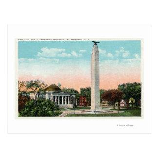 Cartão Postal Vista da câmara municipal e do memorial de
