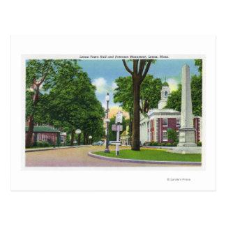 Cartão Postal Vista da câmara municipal e do monumento de