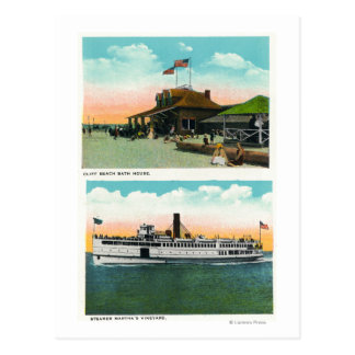 Cartão Postal Vista da casa do banho da praia do penhasco