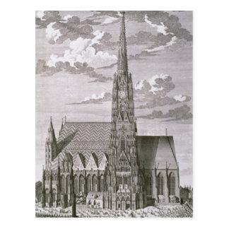Cartão Postal Vista da catedral do St. Stephan