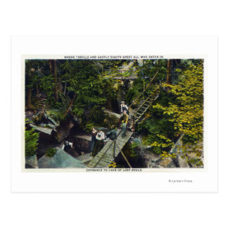 Cartão Postal Vista da caverna de entrada perdida das almas