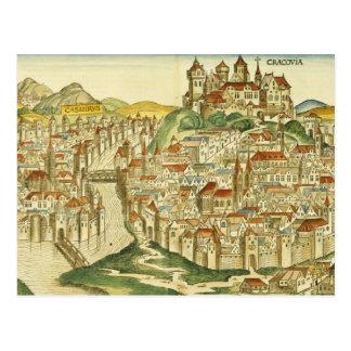 Cartão Postal Vista da cidade de Cracow (Kracow), do Nure