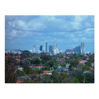Cartão Postal Vista da cidade de Perth de uma cume do pântano do
