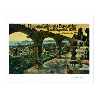 Cartão Postal Vista da cidade de uma missão, expo de Panamá-CA