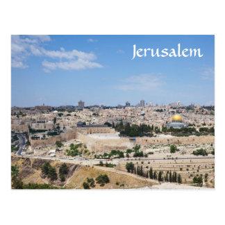 Cartão Postal Vista da cidade velha de Jerusalem, Israel