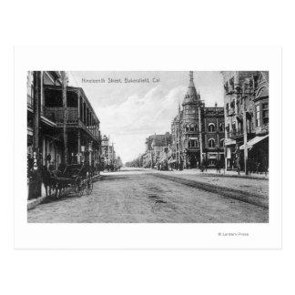 Cartão Postal Vista da décima nona rua # do 2Bakersfield, CA