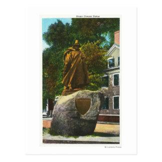 Cartão Postal Vista da estátua de Roger Conant