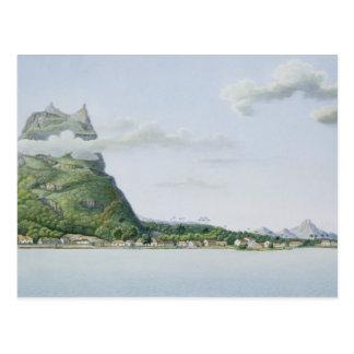 Cartão Postal Vista da ilha de Bora Bora, 'do automóvel da