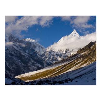 Cartão Postal Vista da montagem Jichu Drake, Bhutan.
