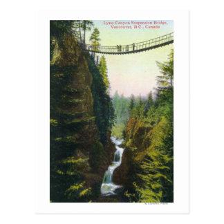 Cartão Postal Vista da ponte de suspensão da garganta de Lynn