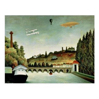 Cartão Postal Vista da ponte em Sevres