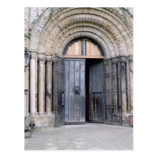 Cartão Postal Vista da porta norte da catedral de Durham