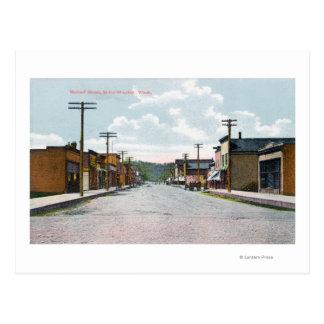 Cartão Postal Vista da rua de Metcalf