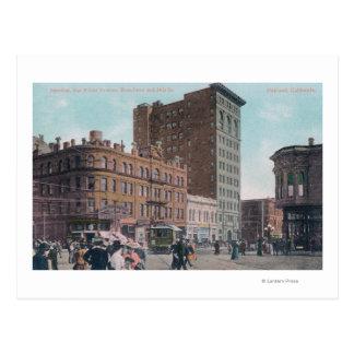 Cartão Postal Vista de Broadway, 14a rua, avenida Junctio de San