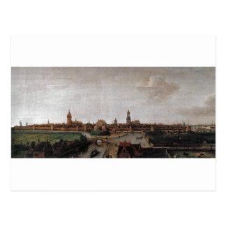 Cartão Postal Vista de Delft do sudoeste por Hendrick