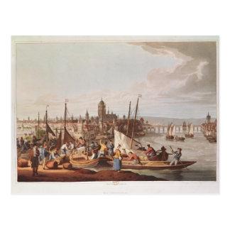 Cartão Postal Vista de Francoforte, 1814